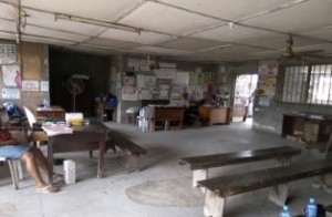 DILAPIDATED: The reception area of Anikulapo PHC