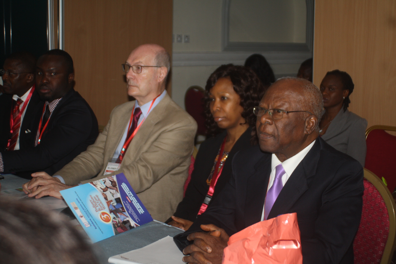 L-R Dr David Isiavwe, Dr Abiola Oki, Dr Andrew Clarke, Dr Afoke Isiavwe, Prof. Thomas Johnson.
