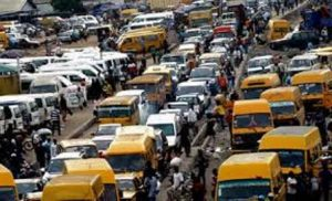Typical Lagos traffic gridlock: Motorists warned against air pollution