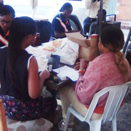 Vanguard hosts medical team for blood sugar screening