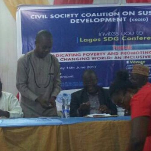 Group laments states' nonchalance towards SDGs