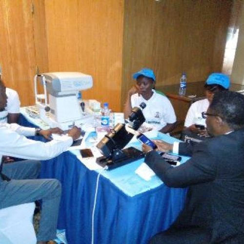 Bank, others launch free eye care for children